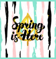 spring is here handdrawn card vector image