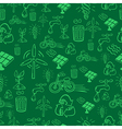 Green alternative energy pattern vector image