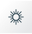 sun outline symbol premium quality isolated sunny vector image