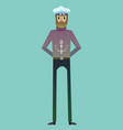 digital sailo character for infographics vector image vector image