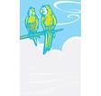 Parrots by foggy sea vector image vector image