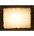 burnt paper at wooden background vector image