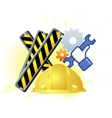 Maintenance mode icon with hand wrench Like work vector image