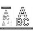 Alphabet line icon vector image