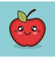 cartoon apple fruit design vector image