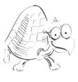 Cartoon turtle in glasses vector image