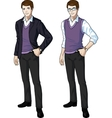 Caucasian office clerk in casual formal wear vector image