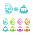 cute colorful eggs with little funny monsters vector image