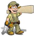 Handyman Carpenter Khaki vector image