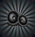 Music speaker background vector image