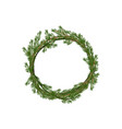 traditional merry christmas wreath spruce vector image