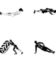 Fitness exercise vector image