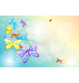 An empty stationery with butterflies vector image vector image