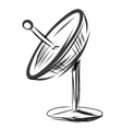 Satellite dish Sketch vector image
