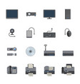 big data icon set computer and devices vector image