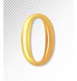 3d matt golden number collection - null vector image