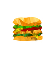 origami burger vector image