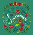 Summer background design vector image