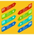 modern arrow infographic background vector image