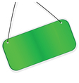 green labes over white background vector image vector image
