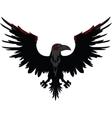 Angry Dark Raven vector image
