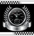 speedometer racing shield vector image