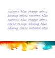 Aquarelle mountains yellow blue note vector image