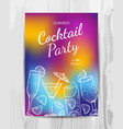 birthday party invitation card cocktail party vector image