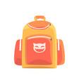 colorful childrens backpack rucksack for school vector image