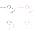 Pig head logo vector image