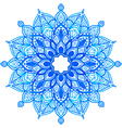 Watercolor hand drawn mandala vector image