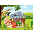 Wild animals in the field vector image