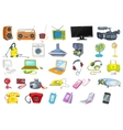 Set of household appliances and electronic devices vector image vector image