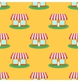 Seamless Smaii Shop Pattern Store Background vector image