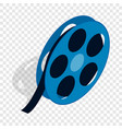 film reel isometric icon vector image