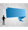 social media speech bubble vector image vector image