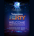 independence day disco party poster vector image
