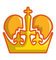 monarch crown icon cartoon style vector image