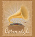 retro style poster old gramophone vector image