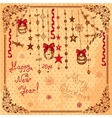 hand drawn christmas card vector image vector image