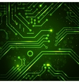 Technology background with circuit board elements vector image
