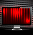 vector digital lcd monitor vector image vector image