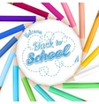 Frame with color pencils EPS 10 vector image