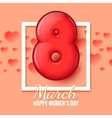 International Womens Day March 8 volume eight vector image
