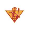 Roman Centurion Soldier vector image vector image