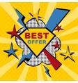 best offer sticker vector image