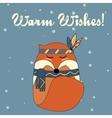 Boho fox in hand drawn style Winter seasonal vector image