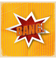 Cartoon Bang on a yellow background old-fashioned vector image