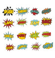 comic sound effect boobles set vector image