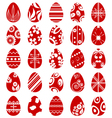 Easter egg symbol set vector image